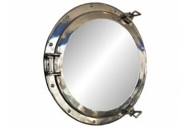"Chrome Decorative Ship Porthole Mirror 20"""