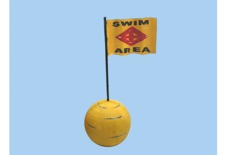"Wooden Swim Area Signal Buoy 16"""