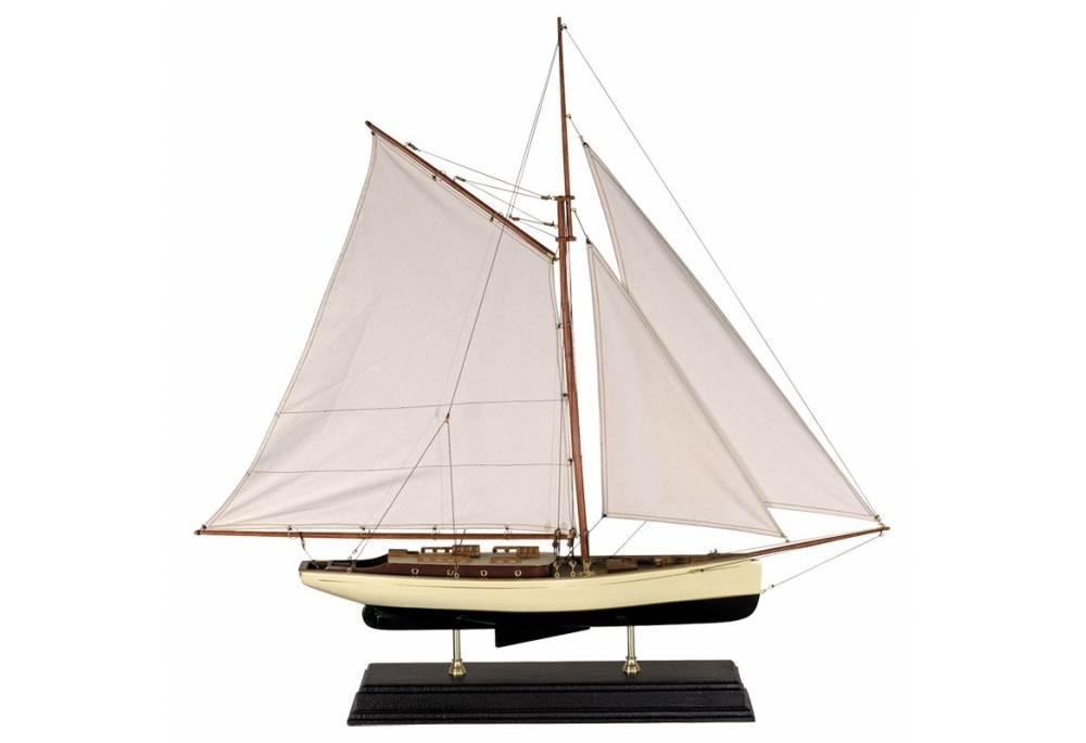 1930 S Classic Yacht Model Decoration Sailing Boat Decor