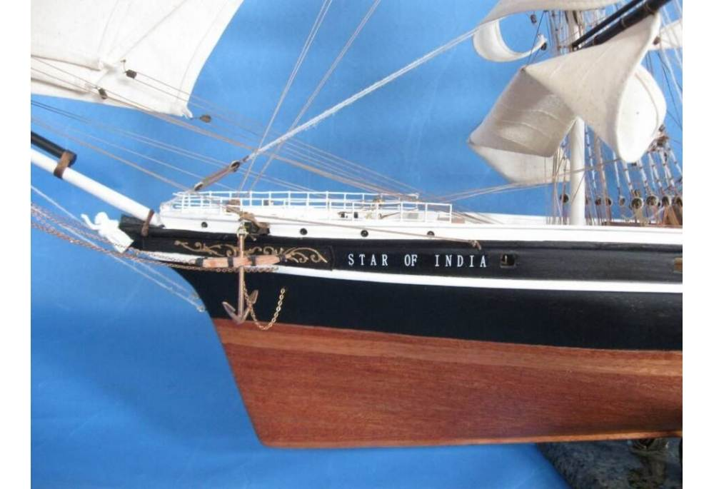 Star Of India Tall Ship Wooden Clipper Boat Model