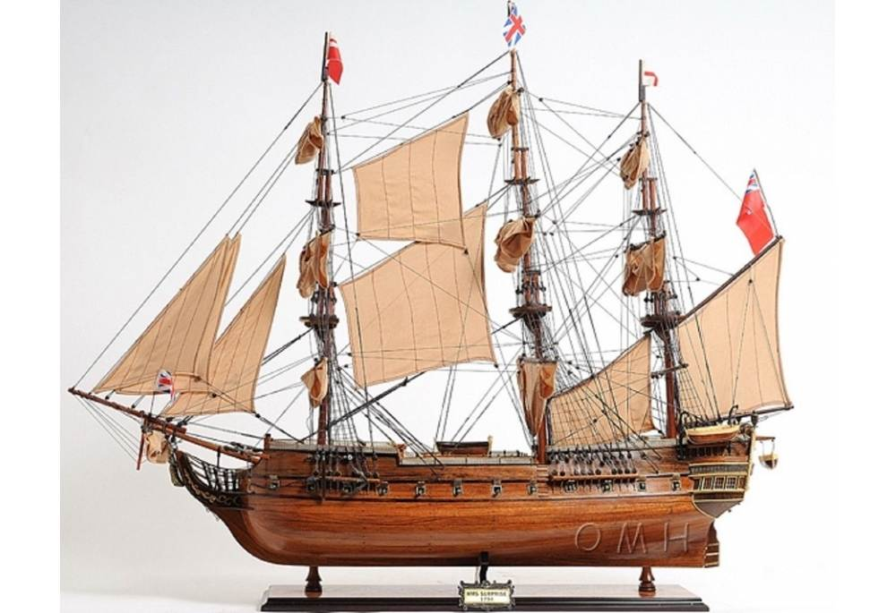 Tall Ship Hms Surprise Wooden Boat Model