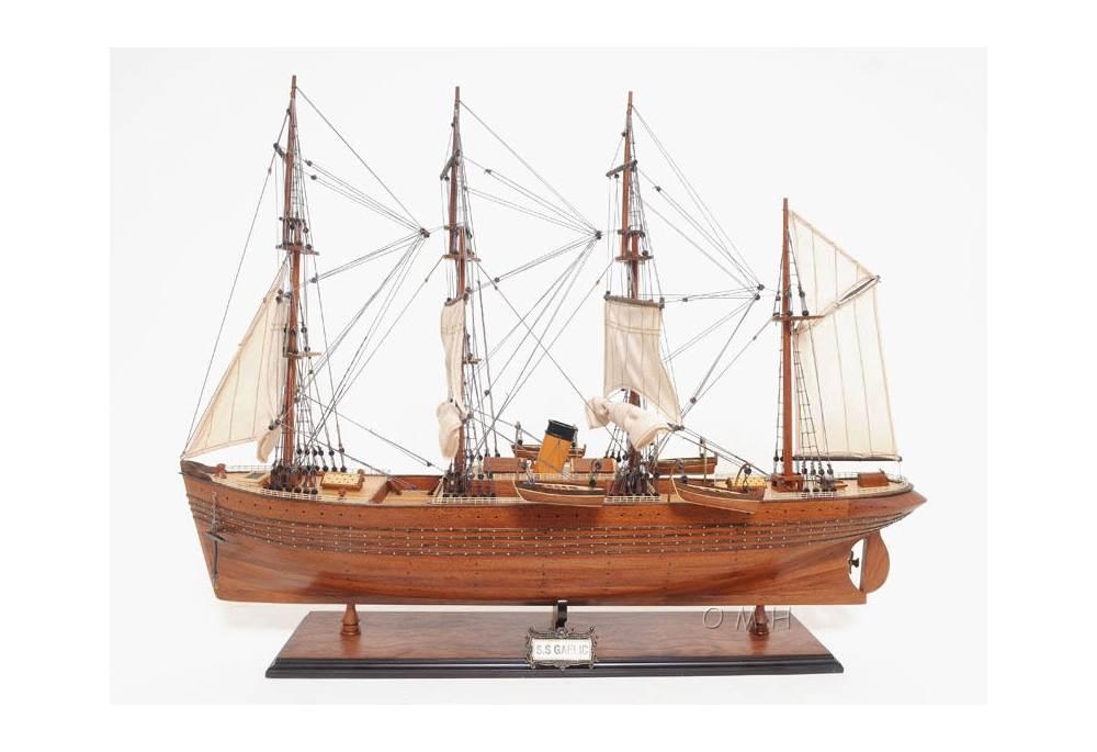 S S Gaelic Wooden Tall Ship Model