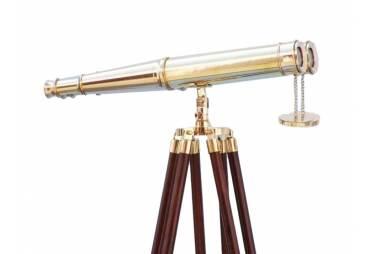 """Admiral's Solid Brass Binoculars/Floor Standing 62"""""""