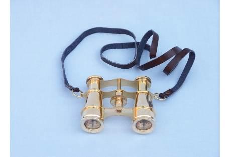 """Captain's Solid Brass Binoculars 4"""""""