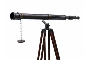 """Floor Standing Oil Rubbed Bronze Galileo Telescope 65"""""""