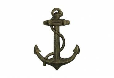 "Antique Gold Cast Iron Anchor 17"""