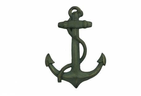 "Antique Seaworn Bronze Cast Iron Anchor 17"""