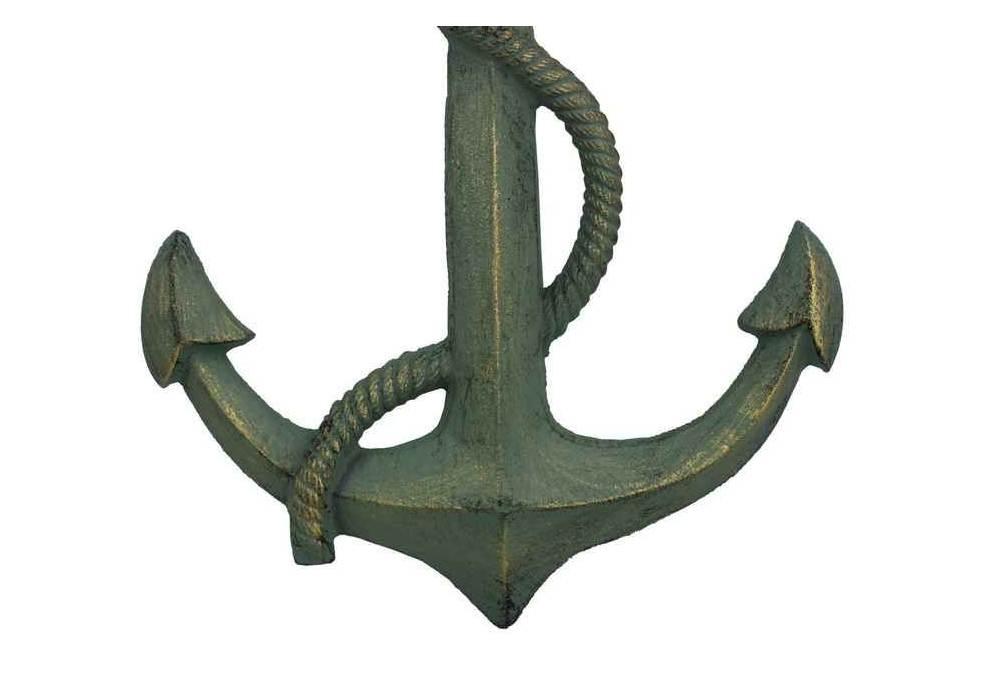 Vintage Anchor Wall Decor : Antique seaworn bronze cast iron anchor nautical wall decor