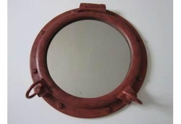 """Rusted Iron Porthole Mirror 20"""""""