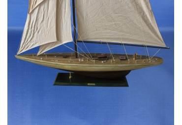 "Wooden Sailboat Model Rustic Ranger 60"""