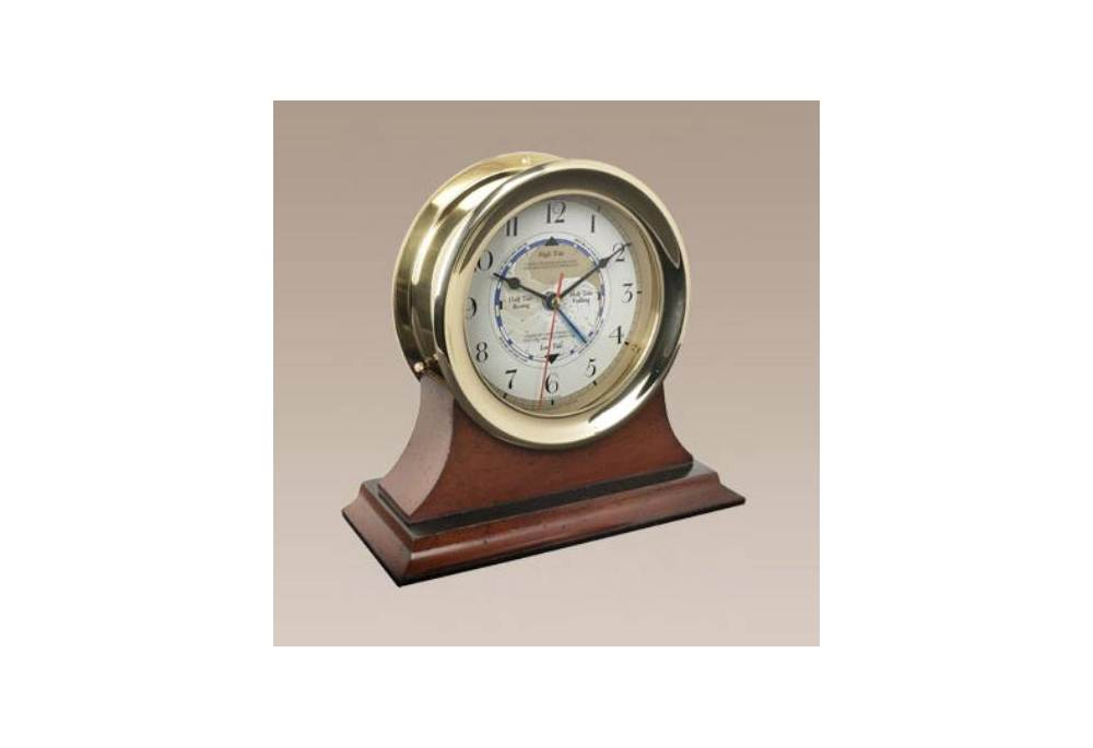 Captain S Time And Tide Clock In Brass
