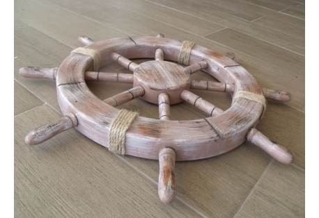 Rustic Seaworn Decorative Ship Wheel