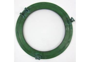 """Porthole Window Aluminum Green Finish 20"""""""
