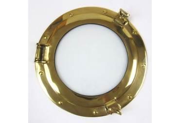 "Solid Brass Porthole Window 11"""