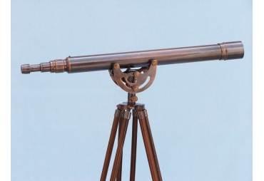 """Floor Standing Antique Copper Anchormaster Telescope 65"""""""