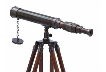 """Floor Standing Oil Rubbed Bronze Harbor Master Telescope 30"""""""