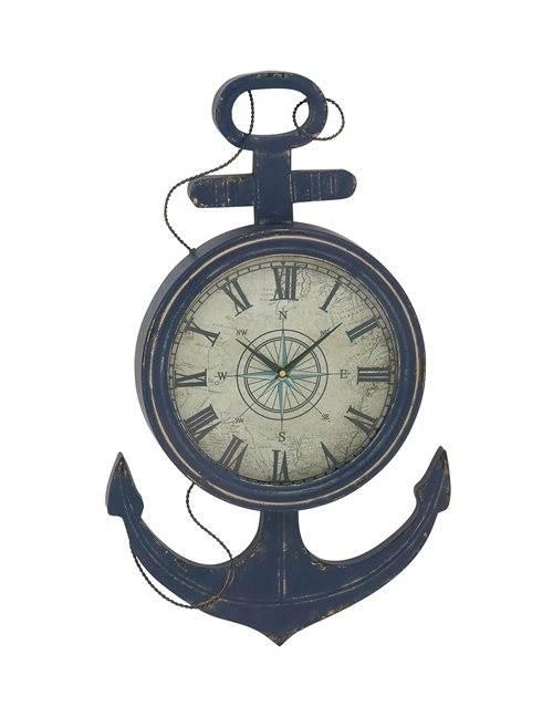 18 inch nautical flag clock supreme metal anchor wall clock