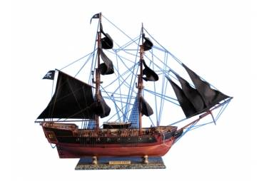 "Caribbean Pirate Ship 37"" Black Sails"