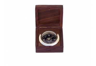 """Boxed Black Desk Compass 3"""""""