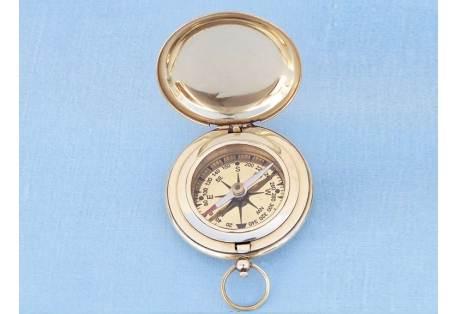 "Captain's Brass Pocket Compass 3"""