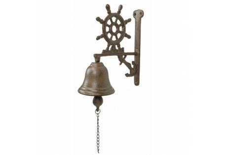 """Iron Rustic Steering Wheel Bell 9"""""""