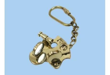 """Brass Sextant Keychain 5"""""""