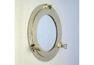 "Brass Porthole Mirror 15"""