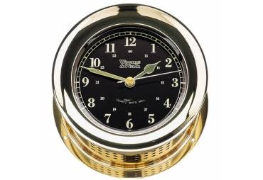 Atlantis Premiere Quartz Ship's Bell Clock (Black)
