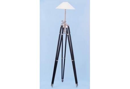 """Black/Chrome Royal Marine Lamp Stand 70"""""""
