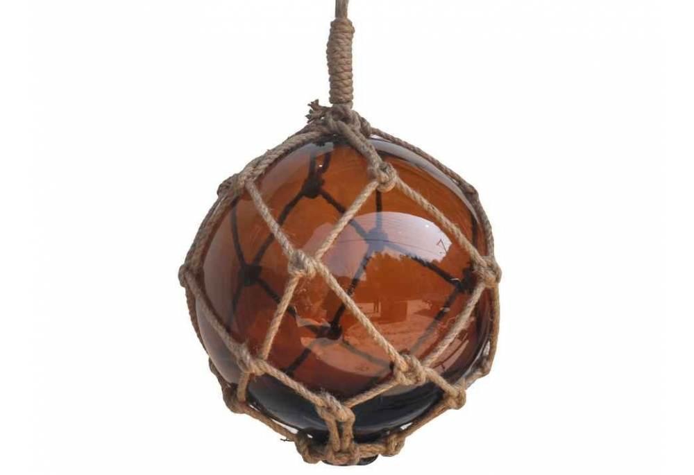 Nautical Decor Amber Japanese Glass Ball Fishing Float ...