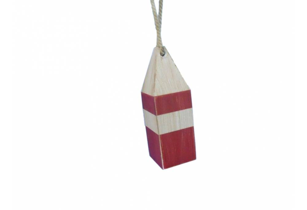 Wooden Rustic Red Chesapeake Bay Decorative Crab Trap Buoy