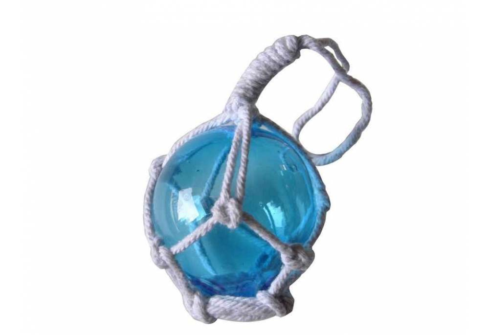Japanese Glass Ball Fishing Float With White Netting