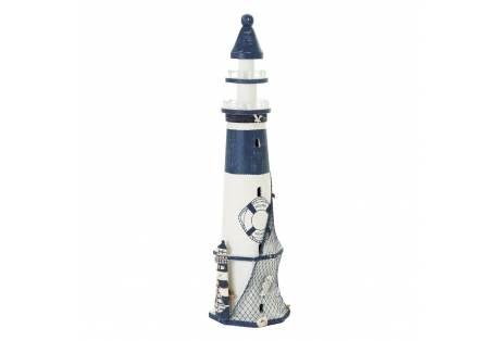 Seaside Wooden Coastal Lighthouse Nautical Decor