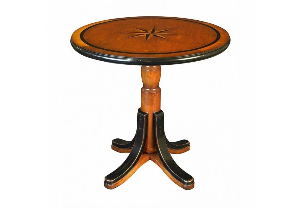 Nautical Mariner Star Table Cocktail Wood Furniture With Compass