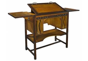 "Bureau Architecte Architects Desk Ttall 39"" Wooden Office Furniture"