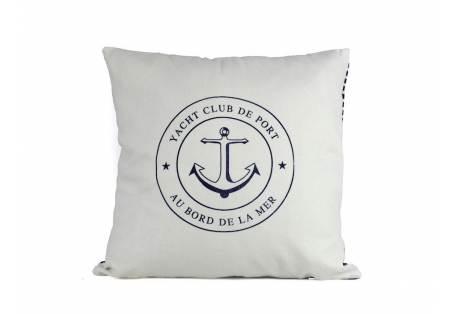 "Yacht Club Anchor Decorative Throw Pillow 16"""