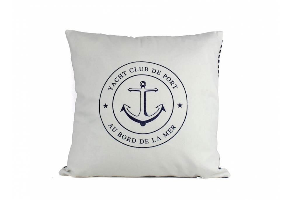 Yacht Club Anchor Decorative Throw Pillow