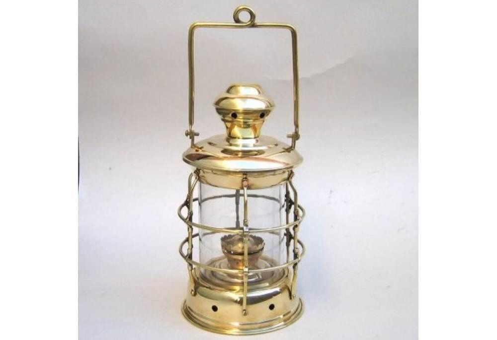 Brass Cargo Lantern Round Oil Lamp