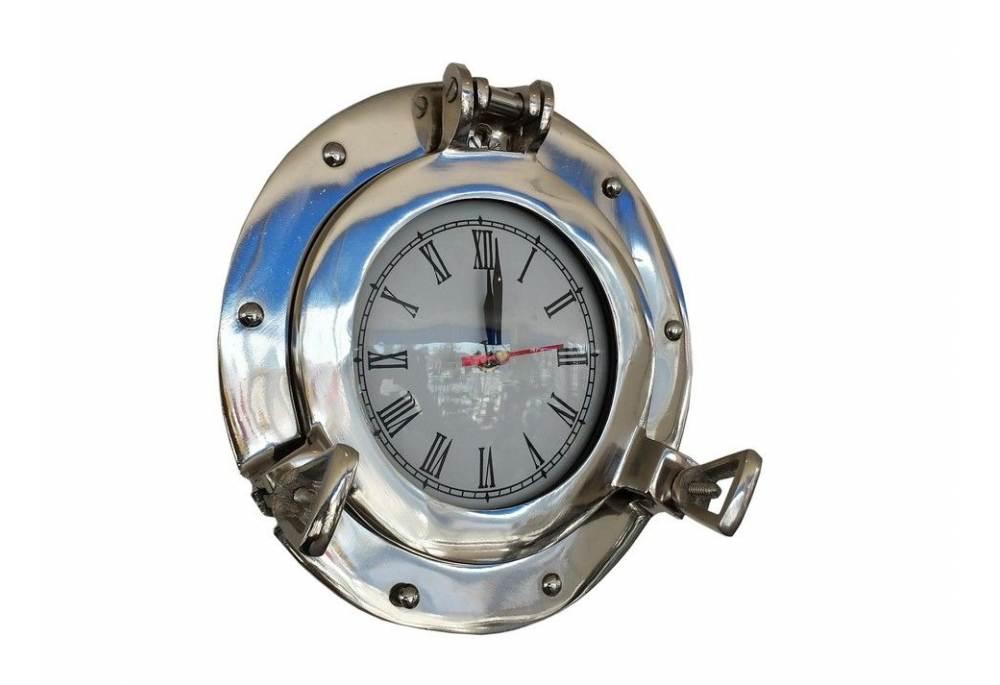 chrome decorative ship porthole clock