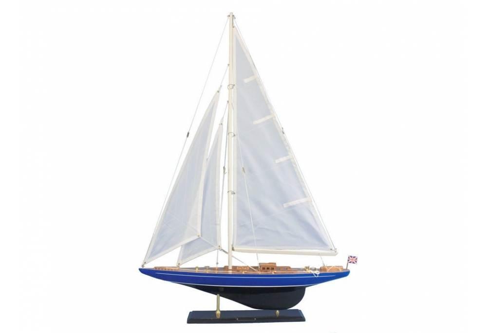 Velsheda Wooden Sailboat Model Decoration