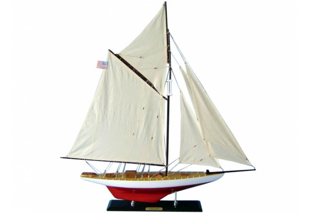 1893 America S Cup Vigilant Wooden Sailboat Model Gonautical