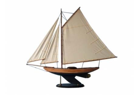 Decorative Wooden Sloop Sailboat Model