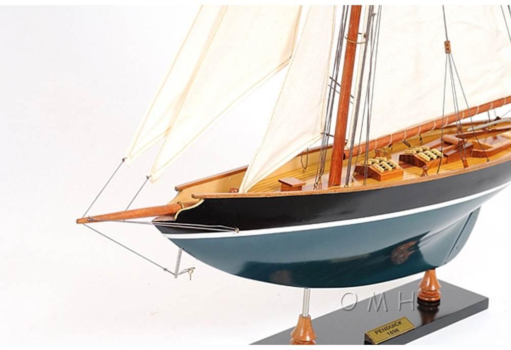 Pen Duick Wooden Sailboat Legendary Racing Model Replica