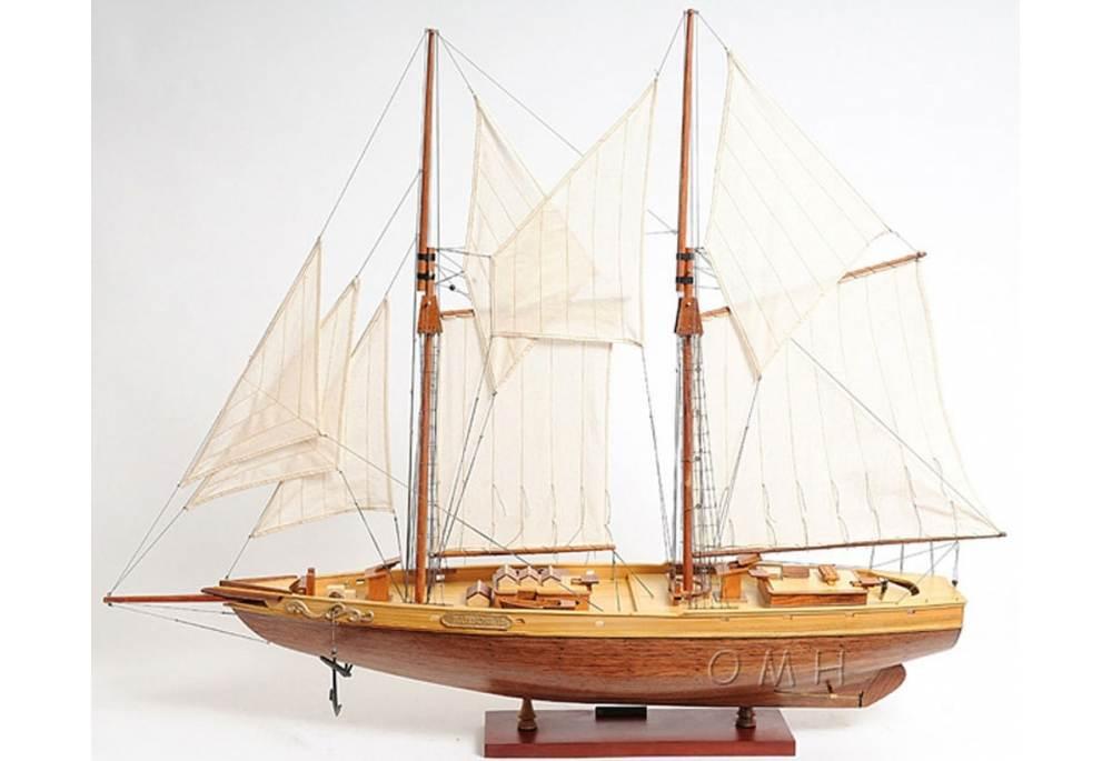 Bluenose Ii Schooner Wooden Yacht Model Gonautical