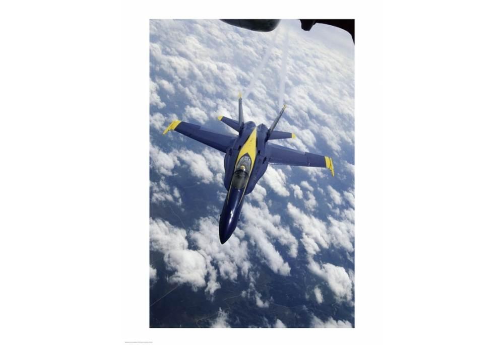 U S Navy Blue Angels F 18 Hornet Art Poster