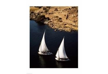Two sailboats, Nile River, Egypt