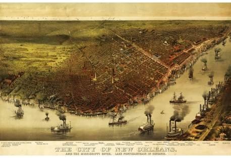 New Orleans & Mississippi River Map