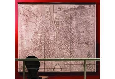 1739 Paris Map Wall Scrolls