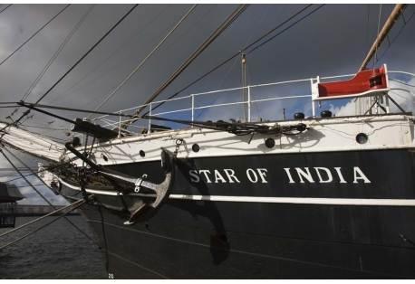 Maritime museum on a ship, Star of India, San Diego, California, USA