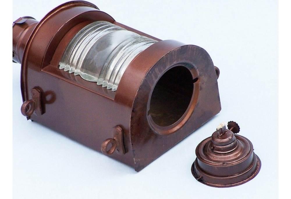 Antique Copper Masthead Oil Lamp